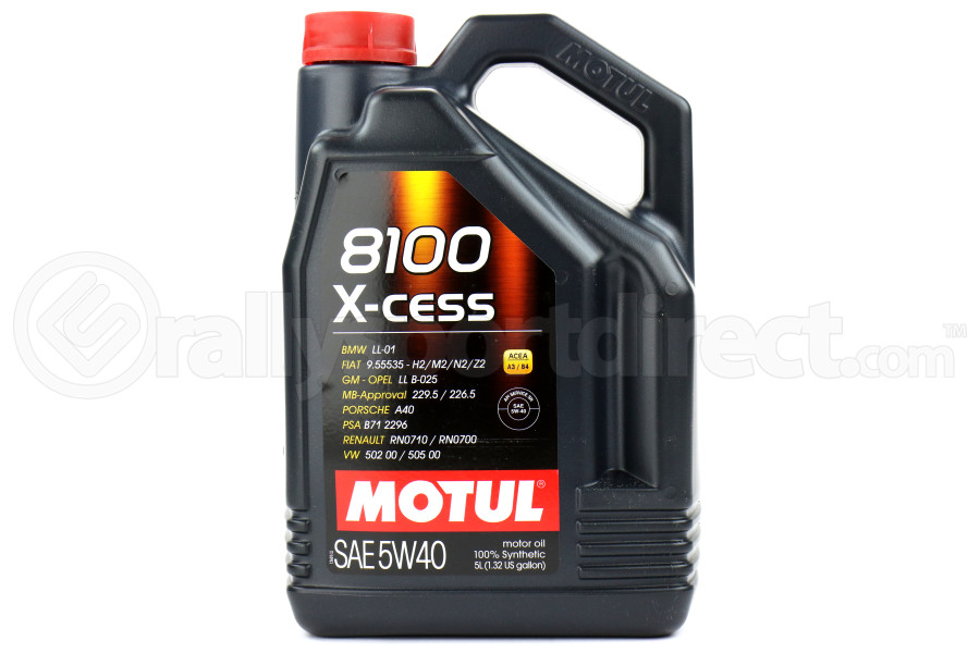 motul 8100 xcess 5w40 engine oil 5l 102870 free shipping. Black Bedroom Furniture Sets. Home Design Ideas