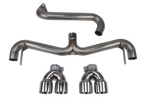 FactionFab Axle Back Exhaust w/ Polished Tips (Hatchback) - Subaru WRX 2011 - 2014 / STI 2008 - 2014