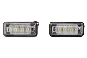 OLM Full Replacement LED License Plate Housings - Subaru Models (inc. 2015+ WRX / STI / 2013+ BRZ)