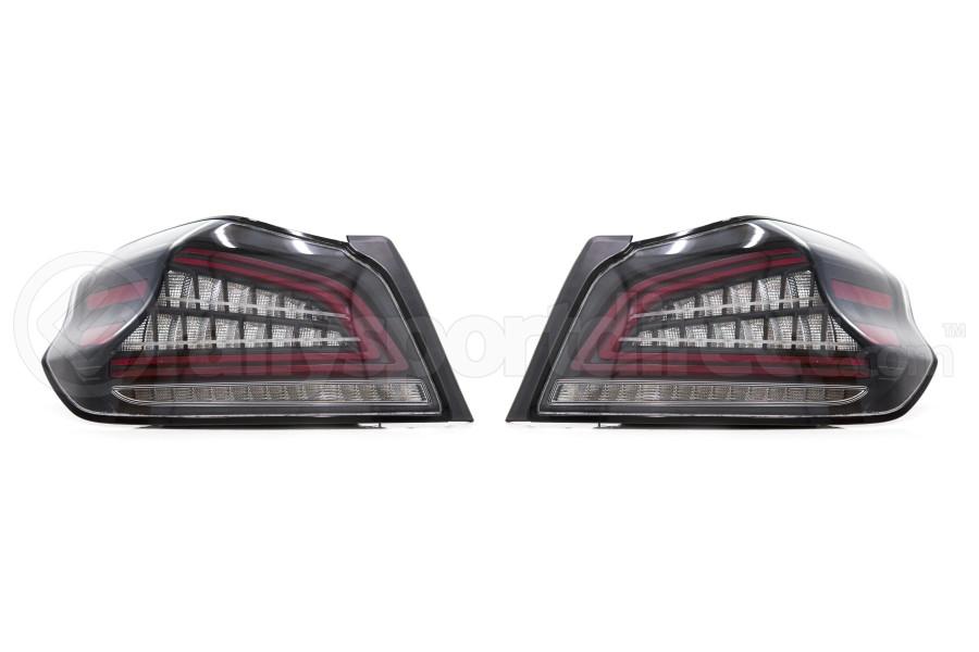 OLM Spec CR Sequential Tail Lights Clear Lens / Black Base - Subaru WRX / STI 2015+