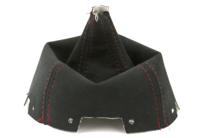 AutoStyled Black Alcantara Shift Boot w/ Red Stitching Short Shifter (Part Number: )