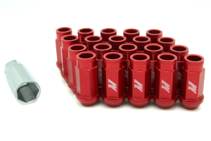 Mishimoto Aluminum Locking Lug Nuts Red 12x1.25 - Universal