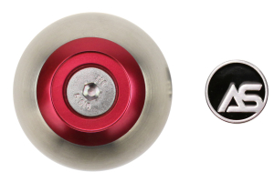 AutoStyled 6 Speed Shift Knob Red w/ Stainless Steel Center ( Part Number:ASA 1501020501)