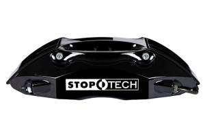 Stoptech ST-40 Big Brake Kit Front 332mm Black Zinc Slotted Rotors (Part Number: )