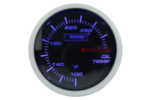 ProSport Oil Temperature Gauge Electrical w/Sender 52mm Blue/White (Part Number: )