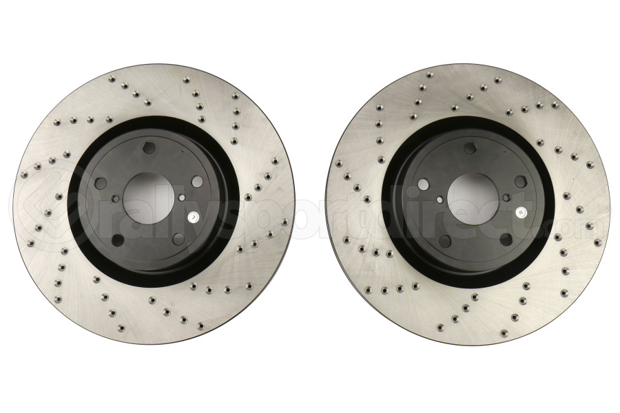 Stoptech Drilled Rotor Pair Front - Subaru STI 2005-2017