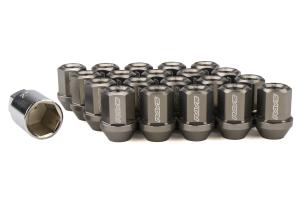 Volk Racing Dura-Nut L32 Straight Type M12X1.50 Lock and Nut Set Gunmetal ( Part Number: WDURA3212150G)