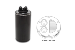 Vibrant Performance Catch Can w/ Integrated Filter Anodized Black - Universal