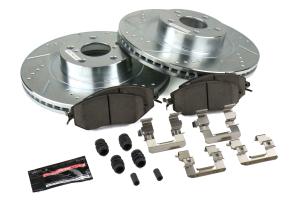 Power Stop Z26 Street Warrior Brake Kit Front - Subaru Models (inc. 2011-2014 WRX / 2013+ BRZ)