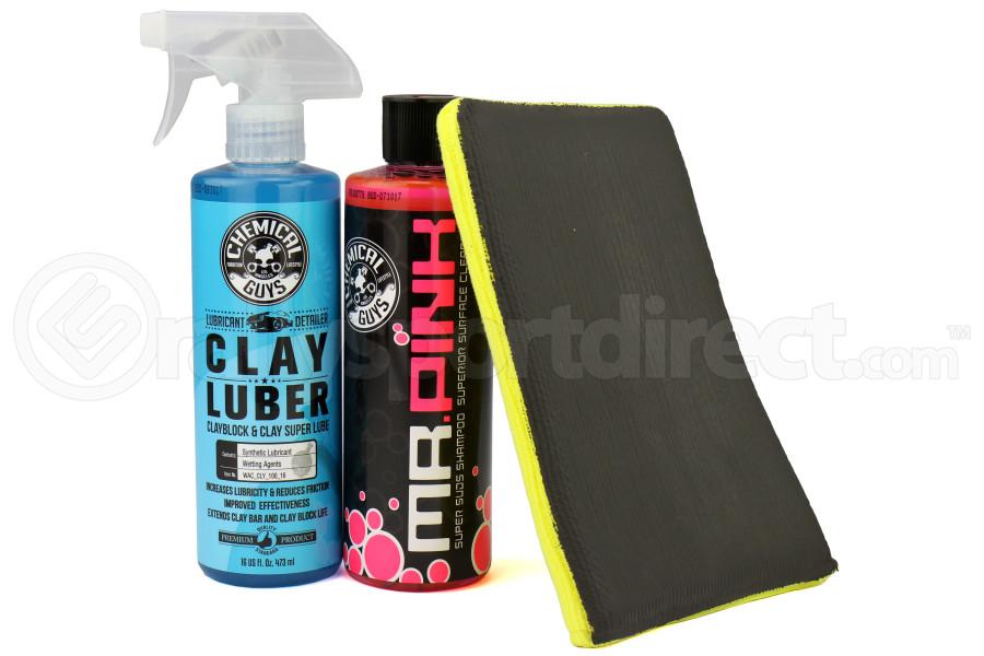 Chemical Guys Surface Cleansing Mitt Medium Grade Clay System Kit - Universal