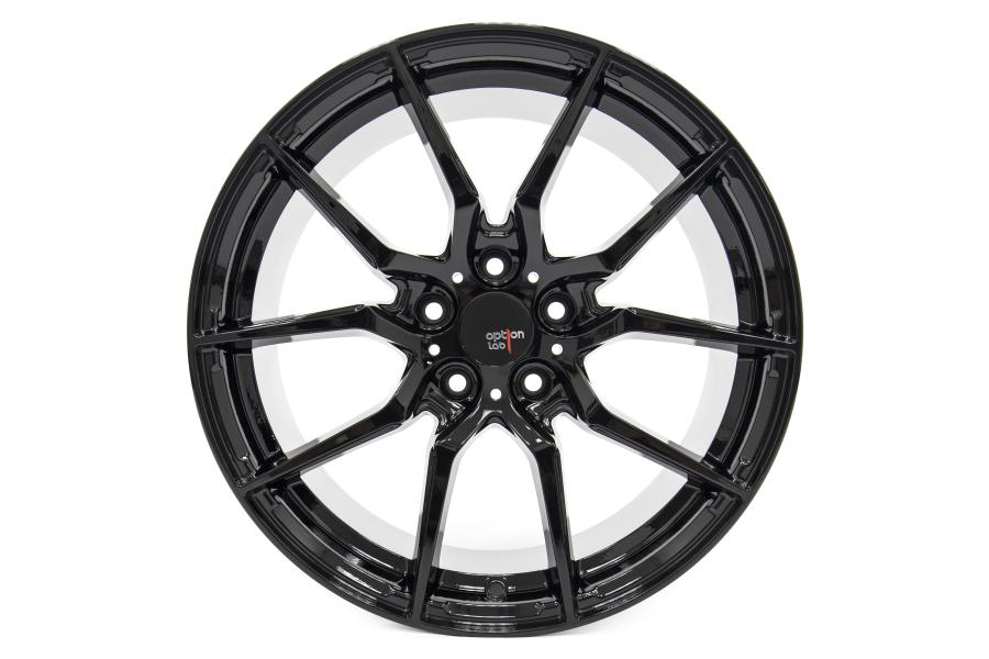 Option Lab Wheels R716 18x8.5 +40 5x100 Gotham Black - Universal
