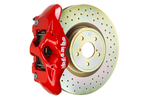 Brembo GT Systems Monobloc 4 Piston 326mm Cross Drilled Red - Subaru Models (inc. 2002-2014 WRX / STI)