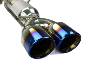 ETS Axle Back Exhaust System w/ Muffler Blue Tips (Part Number: )