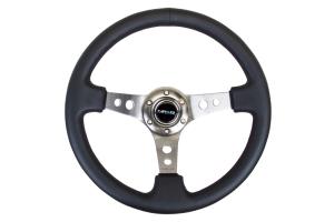 NRG Reinforced Steering Wheel 350mm 3in Deep Gun Metal (Part Number: )