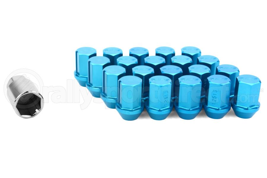 Volk Racing Rays 35MM 12X1.25 Lug Nuts Blue (Part Number:W3512125U)