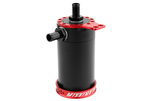 Mishimoto Baffled Oil Catch Can Red Universal ( Part Number:MIS MMBCC-UNI-RD)