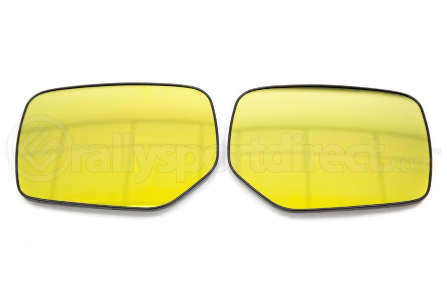 OLM Wide Angle Convex Mirrors w/ Turn Signals / Defrosters Golden - Subaru WRX / STI 2015+