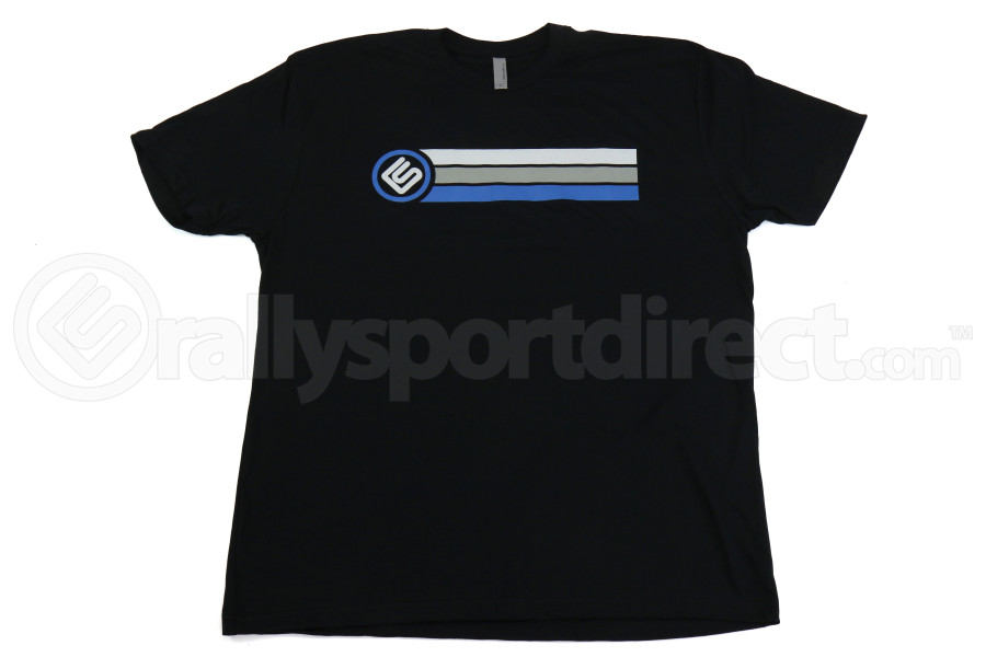 RallySport Direct Stripes Black Premium T-Shirt Large (Part Number:40303)