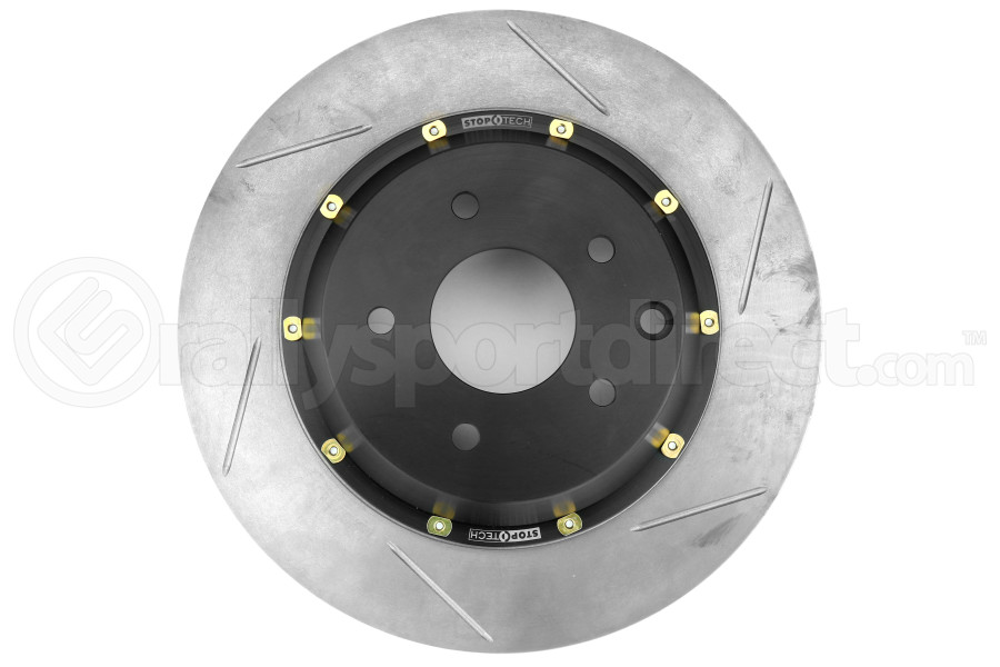 Stoptech 2-Piece Aerorotor and Hat 322x32 Slotted Left Rear - Nissan 350Z / Infiniti G35 (w/OEM Brembo) 2003-2009