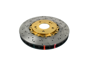 DBA 5000 Series Drilled/Slotted Rotor Single Front Gold ( Part Number:DBA 52218GLDXS)
