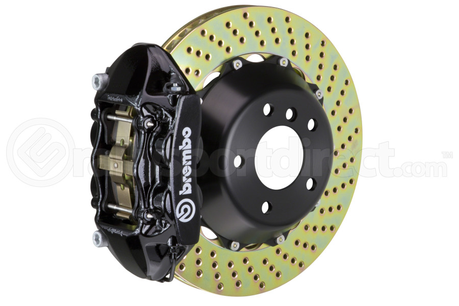 Brembo GT-R Systems 4 Piston Rear Big Brake Kit Black Drilled Rotors - Ford Mustang EcoBoost 2015+