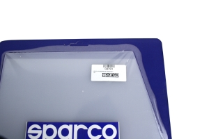 Sparco Universal Mud Flaps ClearWhite Competition ( Part Number:SPR1 03791)
