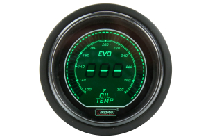 ProSport Digital Oil Temperature Electrical w/Sensor 52mm Green/White (Part Number: )