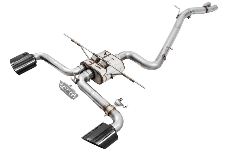 AWE SwitchPath Cat Back Exhaust Diamond Black RS-Style Tips - Audi RS3 2017+