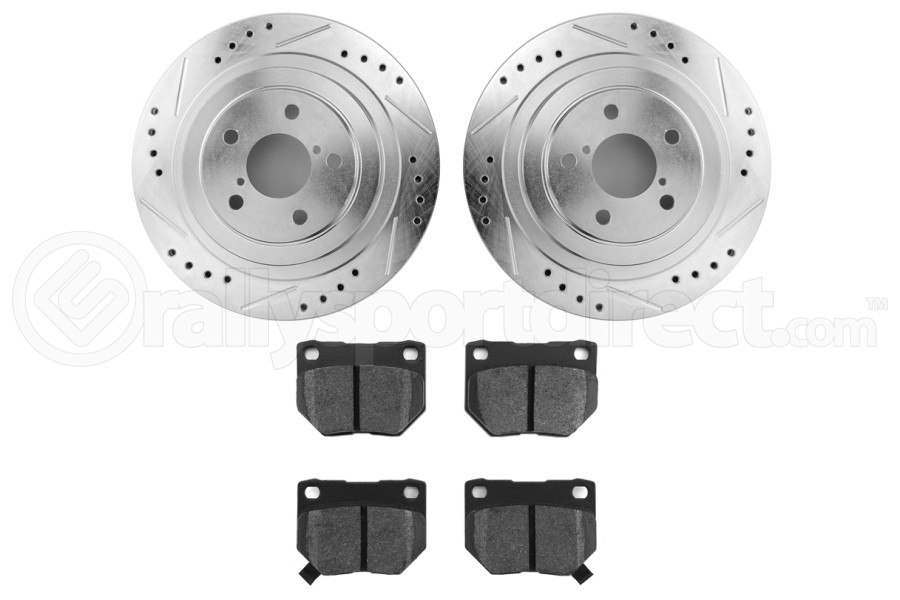 Hawk Performance Rotors w/ HPS 5.0 Pads Kit Rear (Part Number:HK4953.179B)