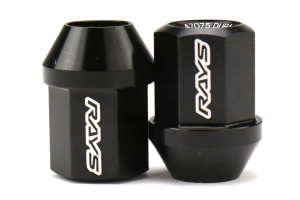 Volk Racing Dura-Nut L32 Straight Type Lug Nuts M12X1.25 Black (Part Number: )