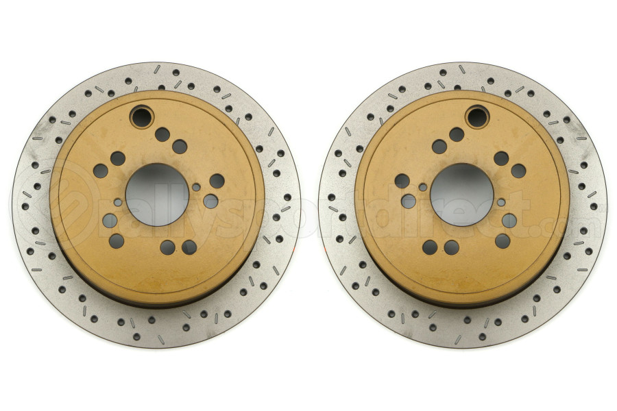 DBA 4000 Series Drilled/Slotted Rotor Rear Pair (Part Number:42659XS-10-G)