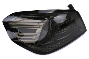 Spec-D Sequential LED Tail Lights Chrome Housing w/ Smoked Lens and White LED Bar - Subaru WRX / STI 2015 - 2020
