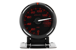 Defi Red Racer Pressure Gauge Imperial 52mm 140 PSI White Needle ( Part Number: DF06607)