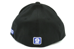 Sparco Hat Icon Black Large/XLarge FlexFit Tuning - Universal