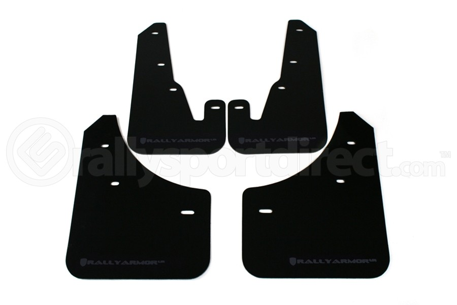 Rally Armor UR Mudflaps Black Urethane Grey Logo ( Part Number:RAL MF9-UR-BLK/GRY)