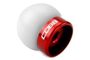 COBB Tuning Delrin Shift Knob White/Red ( Part Number:COB 2M1350-W-RD)