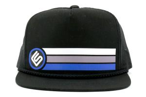 RallySport Direct Stripes Trucker Snap Back Hat ( Part Number: 20031)