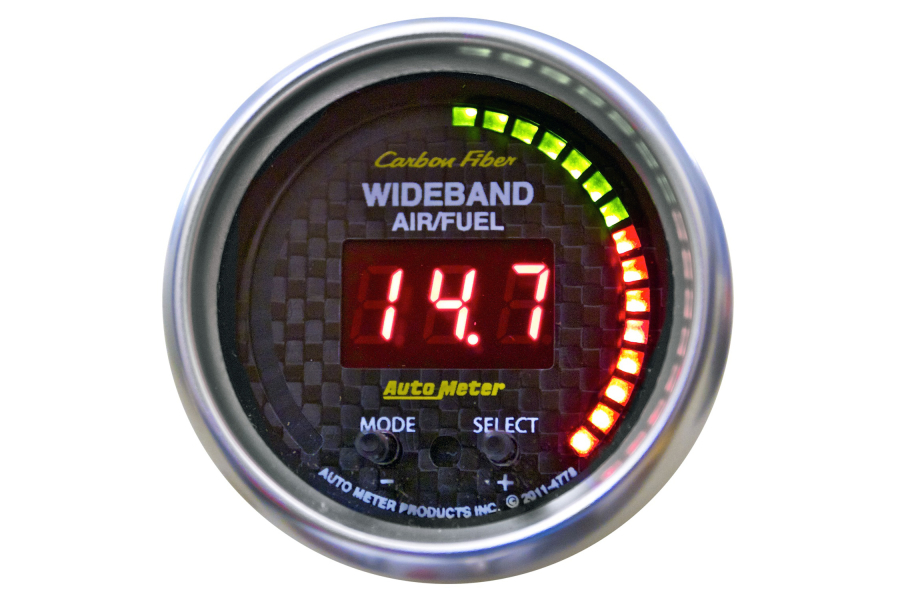 Autometer Carbon Fiber Wideband Air/Fuel Ratio Gauge Digital 52mm - Universal