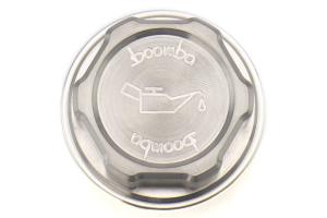 Boomba Racing Aluminum Oil Cap Natural Finish - Subaru Models (inc. 2002+ WRX / STI)