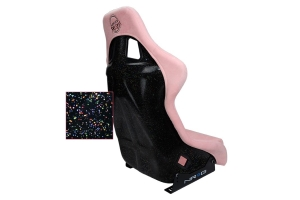 NRG Innovations FRP PRISMA Large Competition Seat Vegan Alcantara Pink - Universal