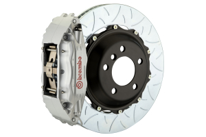 Brembo GT Systems 4 Piston Front Silver Big Brake Kit Type 3 Slotted Rotors - Subaru STI 2005-2017