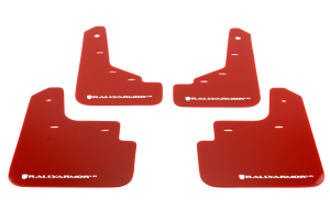 Rally Armor UR Mudflaps Red Urethane White Logo ( Part Number: MF31-UR-RD/WH)