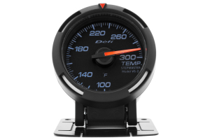 Defi White Racer Temperature Gauge Imperial 52mm 100-300F (Part Number: DF06703)