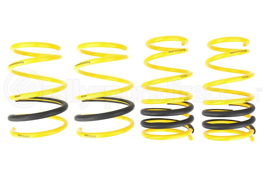 Racecomp Engineering Yellow Lowering Springs (Part Number:GDF300)