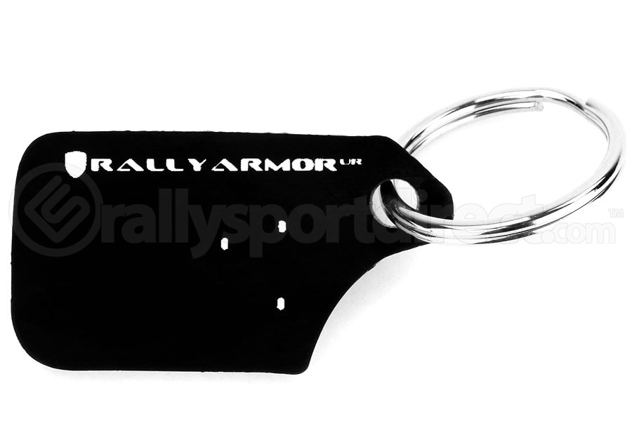 Rally Armor Black UR Mudflap Keychain ( Part Number:RAL RA-KYCHN-BLK/WH)