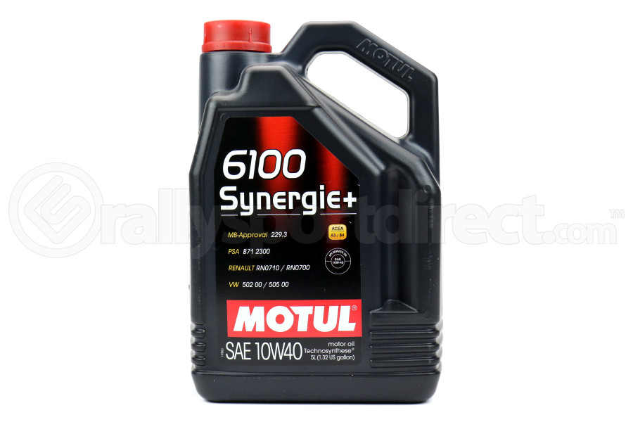 Motul 6100 Synergie+ 10W40 Motor Oil 5L (Part Number:101493)