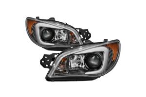 Spyder Projector Headlights Xenon/HID Model w/Light Bar DRL - Subaru WRX / STI 2006-2007