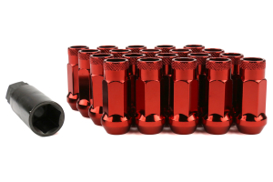 Muteki SR48 Chrome Red Open Ended Lug Nuts 12X1.50 - Universal