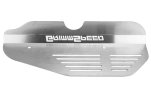 GrimmSpeed Alternator Cover Brushed Stainless Steel ( Part Number:GRM 099024)