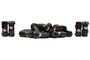 KICS R40 Iconix Black Locking Lug Nuts W/ Black Caps M12X1.25 (Part Number: )